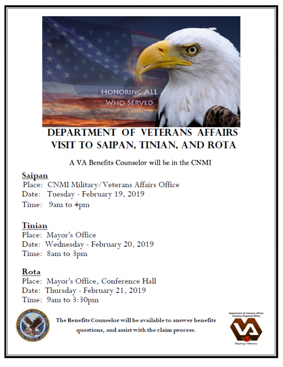 Vets Counselor in the Marianas
