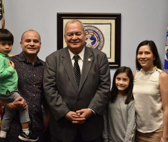 Flores family visits feature image