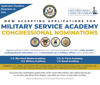 Apply now for a Service Academy nomination feature image